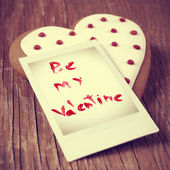 Be my valentine card, with a retro effect — ストック写真