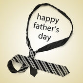 Necktie and sentence happy fathers day — Stock Photo
