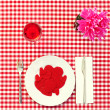 Plate full of red hearts — Stock Photo #64547961