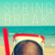 Text spring break — Stock Photo #65200853