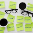 Sticky notes with concepts related to teamwork — Stock Photo #65201151