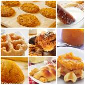 Pastries collage — Stock Photo