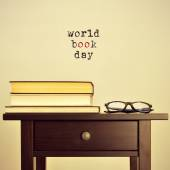 World book day, with a retro effect — Stock Photo