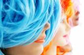 Wigs of different colors — Stock Photo