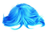Long-haired blue wig — Stockfoto
