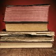Old books on a rustic wooden table — Fotografia Stock  #68950599