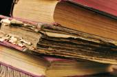 Worn-out old books — Stock Photo