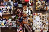 Bits and pieces in a flea market — Stock Photo