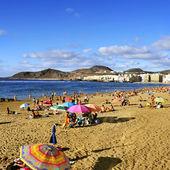 Las Canteras Beach in Las Palmas, Gran Canaria, Spain — Stock Photo