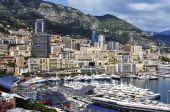 Aerial view of the Port Hercules in La Condamine and Monte Carlo — Stock Photo