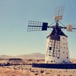 Old windmill in Fuerteventura, Spain — Stock Photo #80145866