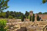 Ancient Greek archaeological remains of Empuries — Stock Photo