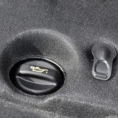 Engine oil reservoir close up — Stock Photo