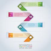 Infographie moderne modèle — Vecteur