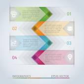 Arrow infographics — Vecteur