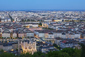 View of Lyon city from Fourviere at night — Stock Photo