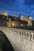 Night view from Lyon city — Stock Photo