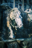 Horses of Bartholdi Fountain in Lyon  — Foto de Stock