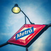 Metro Station Sign — Stock Photo