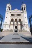 Front of Notre Dame de Fourviere basilica — Stock Photo