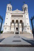 Front of Notre Dame de Fourviere basilica — Stock Photo