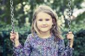 Girl on swing  — Stock Photo