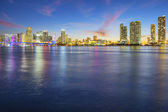 View of Miami at sunset — Stock Photo