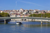 View on Lyon and Saone river — Stock Photo