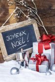 Closeup of Christmas gifts — Stock Photo