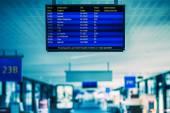 Airport flight schedule — Stock Photo
