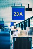 Airport gate — Stock Photo