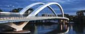 Panoramic view of famous bridge in Lyon — Stock Photo