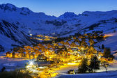 View of Saint Jean d'Arves by night — Fotografia Stock