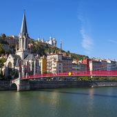 Famous view of Lyon city — Stock Photo