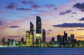 Abu Dhabi Skyline at sunset — Stock Photo