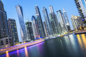 Dubai Marina by night — Stock Photo