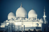 Sheikh Zayed Grand Mosque by night — Stock Photo