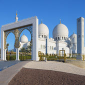 Entry of Sheikh Zayed Grand Mosque — Stock Photo