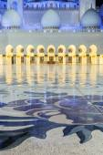 Grand Mosque by night — Stock Photo