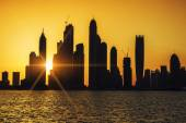 View of Dubai at sunrise — Stock Photo