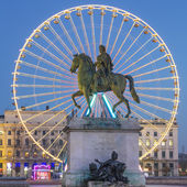 View of Place Bellecour by night — Stock Photo