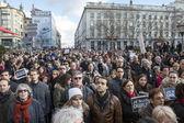 LYON, FRANCE - JANUARY 11, 2015: Anti terrorism protest. 7 — Stock Photo