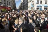 LYON, FRANCE - JANUARY 11, 2015: Anti terrorism protest. 5 — Stock Photo