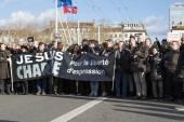 LYON, FRANCE - JANUARY 11, 2015: Anti terrorism protest. 2 — Stock Photo