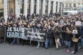 LYON, FRANCE - JANUARY 11, 2015: Anti terrorism protest — Stock Photo