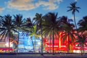 Ocean Drive at sunset — Stock Photo