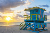 Beautiful Miami South Beach sunrise — Stock Photo