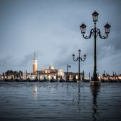Grand Canal on a cloudy day, Venice. — Stock Photo