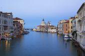 View of the Grand Canal and Basilica Santa Maria della Salute — Stock Photo