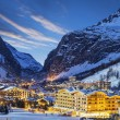 Ski resort in French Alps — Stock Photo #64771739
